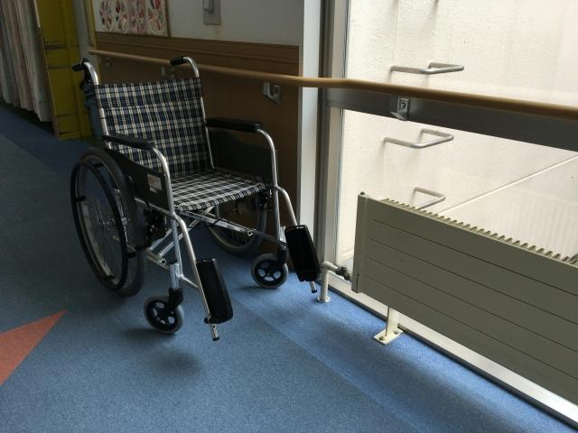 老人ホームの車椅子